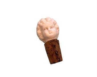ⱽᴵᴺᵀᴬᴳᴱ FROZEN CHARLOTTE CORK Antique Vintage Doll Head Bottle Stopper Ceramic Curiosity Haunted House Decor Potion Topper