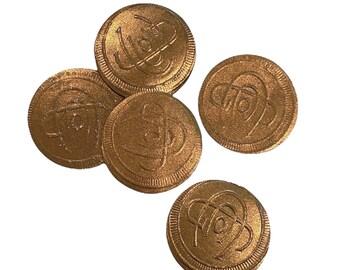ⱽᴵᴺᵀᴬᴳᴱ 5pcs GILDED EMBOSSED LABELS Monogram Paper Stickers Chocolate Box Seals Ephemera Lot