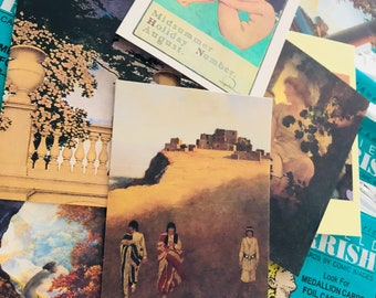10pcs MAXFIELD PARRISH CARDS Vintage Sealed Collector Card Pack American Illustrator