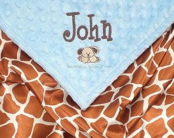 Silky Satin Baby Blanket  , Personalized Baby Blanket - Baby Boy or Baby Girl Blanket - You Design
