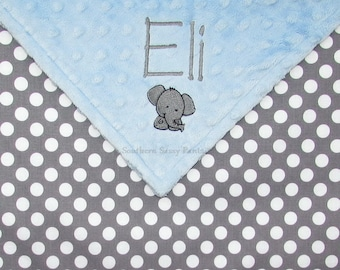 Custom Blanket, Personalized Toddler Blanket, Gender Neutral Baby, Minky Baby Blanket, Personalised Baby Gift, Additional Embroidery, 36x40