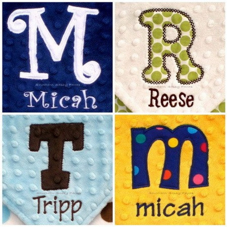 Personalized Baby Blanket  Minky Baby  Toddler Blanket  image 0
