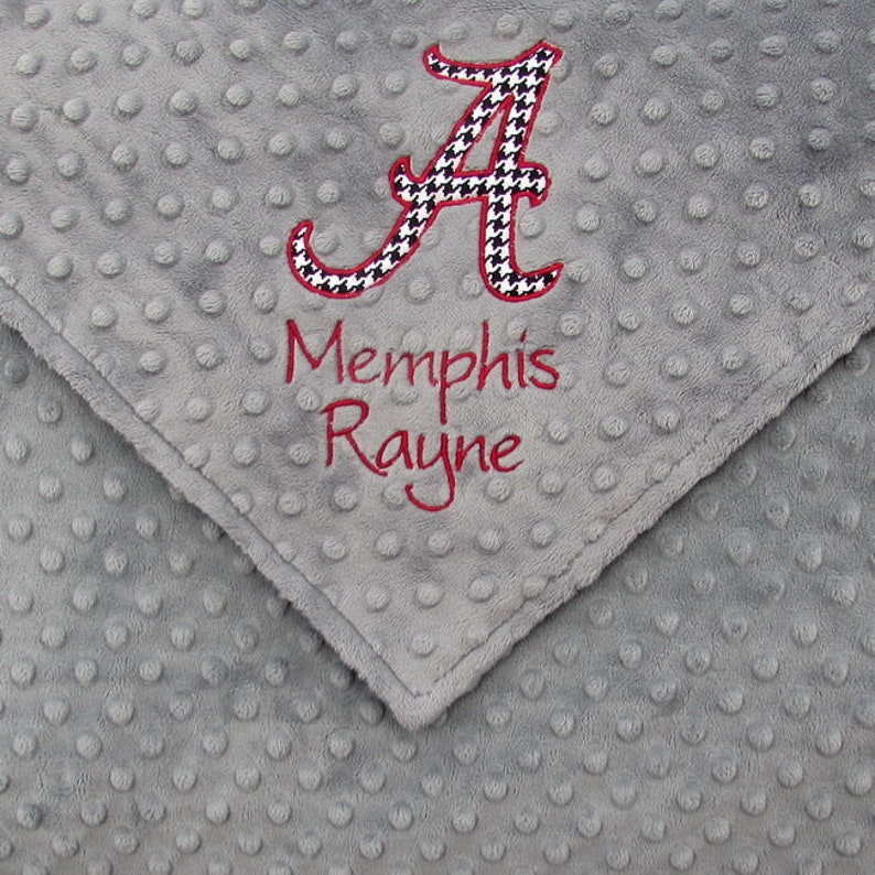 Alabama Crimson Tide Inspired Baby Blanket Personalized Roll image 0