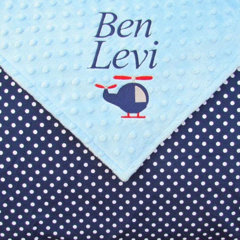 Baby Blanket or Lovie Personalized with Name Gender Neutral image 0