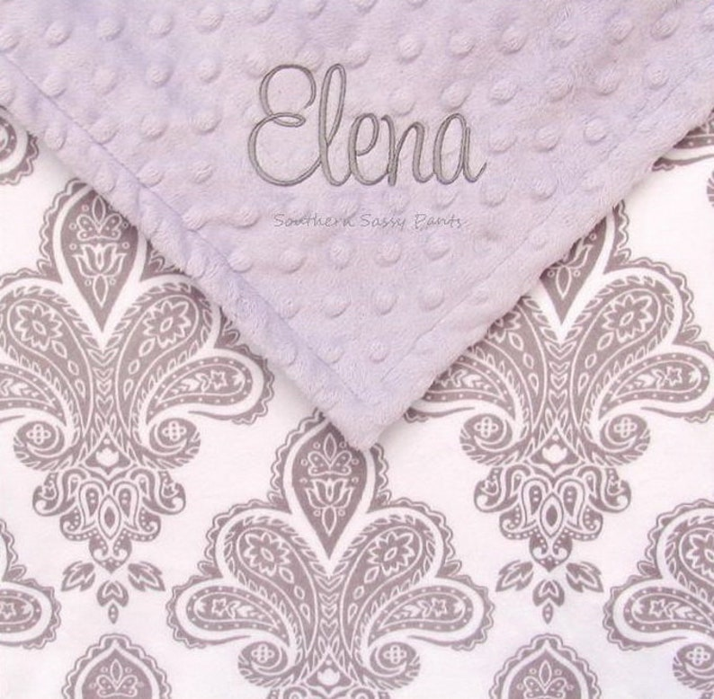 Baby Girl Security Blanket Personalized Keepsake for New image 0