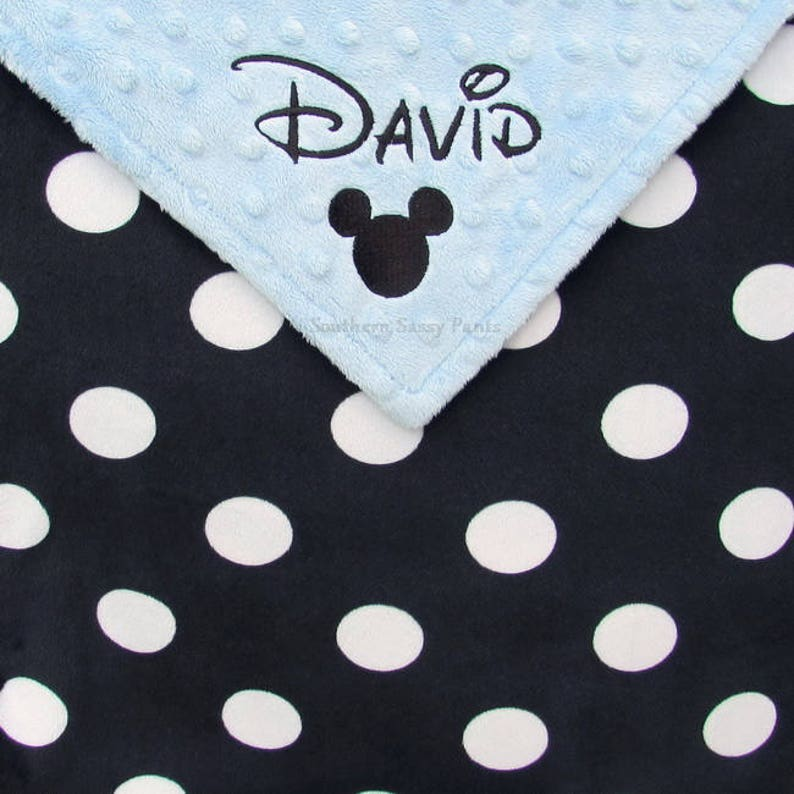 Minky Baby Blanket Personalized Baby Blanket Blanket with image 0