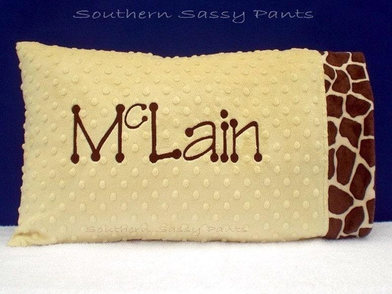 Personalized Toddler Pillowcase  Minky Pillowcase  You image 0