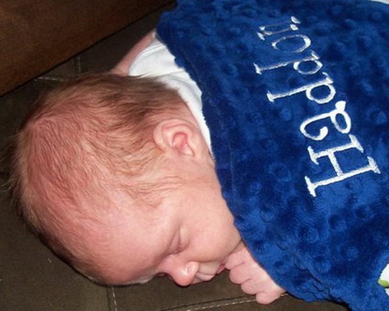 Personalized Animal Blanket for Baby Boy Jungle Safari image 0