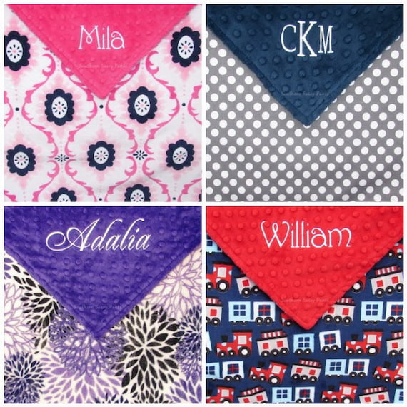 b8f957ba4a579 Minky Baby Blanket , Personalized Baby Blankets , Handmade Embroidered  Minky Blanket, for Baby Boy or Baby Girl - Design Your Own - 30x36