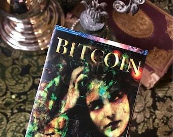 Mini Art Zine Bitcoin BTC Cryptocurrency Satoshi Nakamoto Art argent QR Code modifié ARt numérique Mixed Media collection