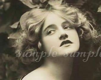 VINTAGE photo instant DIGITAL DOWNLOAD belle femme Gypsy Bohème Boho princesse Art Print journalisation Altered Art