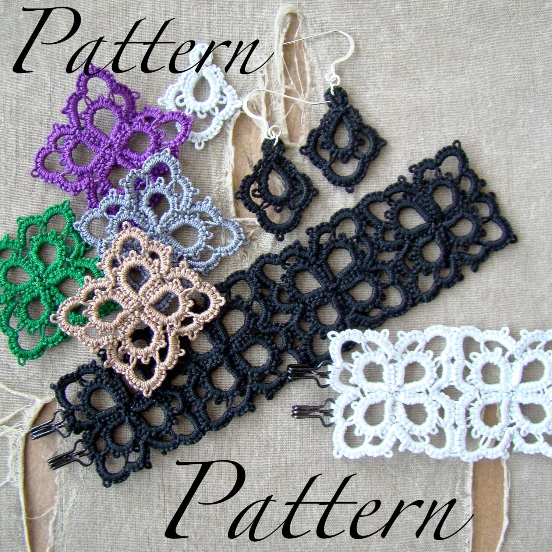 Pdf Tatting Pattern Petals Pendant Bracelet Earrings Etsy