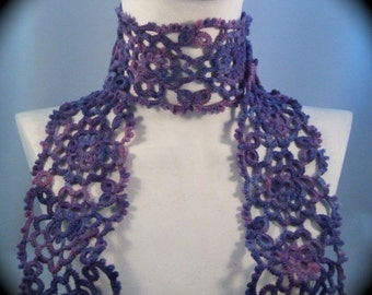 Grand Daisy Tatted Scarf