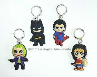 DC Characters Inspired Stitch Markers Set