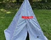 Childrens Kids Play Tepee Teepee Tent  6ft Tall   5 sided tent  No Assembly Required