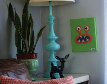 Orange Bernard Monster Canvas 8x10