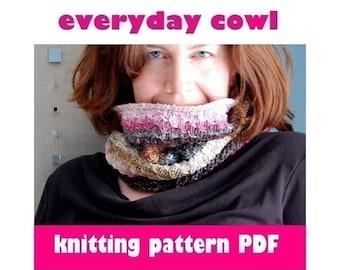 KNITTING PATTERN - Everyday Cowl (PDF Download)