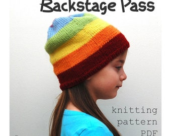KNITTING PATTERN - Backstage Pass Slouchy Knitted Cap (PDF Download)
