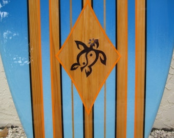 Wooden Decorative Surfboard Wall Surf Art  for home, hotel, restaurant  Beach Decor by Tiki Soul - 4 Sizes to Choose From