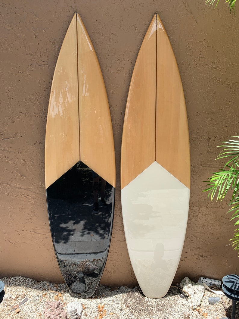 Decorative Wooden Surfboard Wall Art Modern Art Hawaiian Art Beach Wall Decor Coastal Wall Decor Hawaiian Decor Black And White