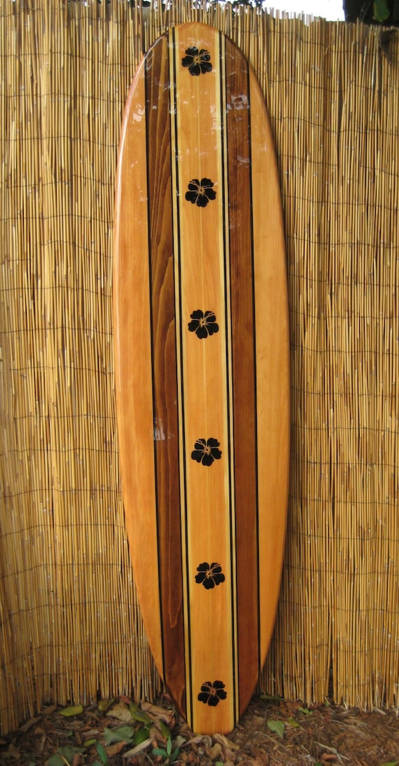 Wooden Surfboard Wall Decor Surfboard Wall Art Hawaiian Decor Hawaiian Art Decorative Surfboards