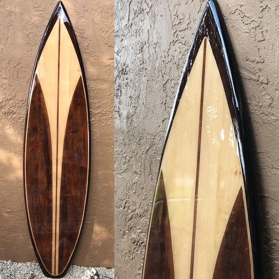 Decorative Wooden Surfboard Surfboard Wall Art Hawaiian Art Surf Art Surfer Decor Hawaiian Decor Beach House Decor
