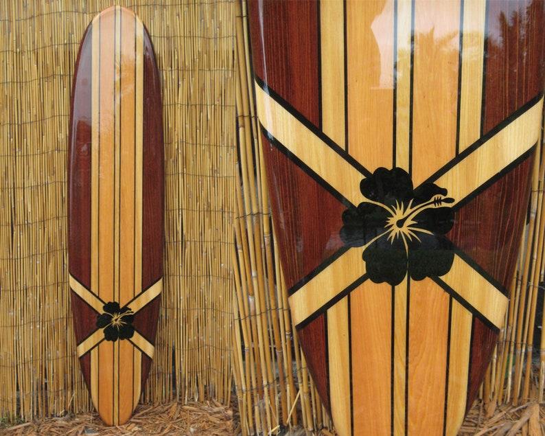 Surfboard Wall Art Hawaiian Art Surf Art Surfer Decor Coastal Wall Decor Beach House Decor Decorative Wooden Surfboard