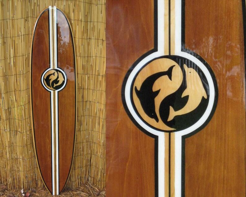 Decorative Wooden Surfboard Wall Art Beach Decor Hawaiian Decor Coastal Decor Surfer Art Surf Art Hawaiian Art Tiki Soul
