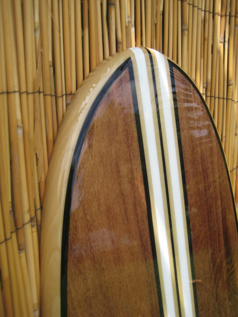 Hawaiian Art Wooden Surfboard Surfboard Wall Art Surf Art Surfer Decor Coastal Wall Decor Beach House Decor
