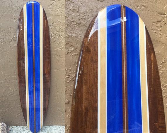 Decorative Surfboard Wall Art Surfboard Art Hawaiian Decor Beach House Decor Beach Themed Wood Surfboard Hawaiian Art Surfboard