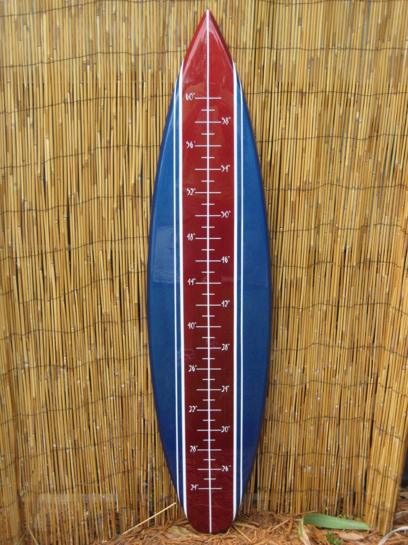 Tiki Soul Surfboard Children S Grow Chart Made From High Etsy