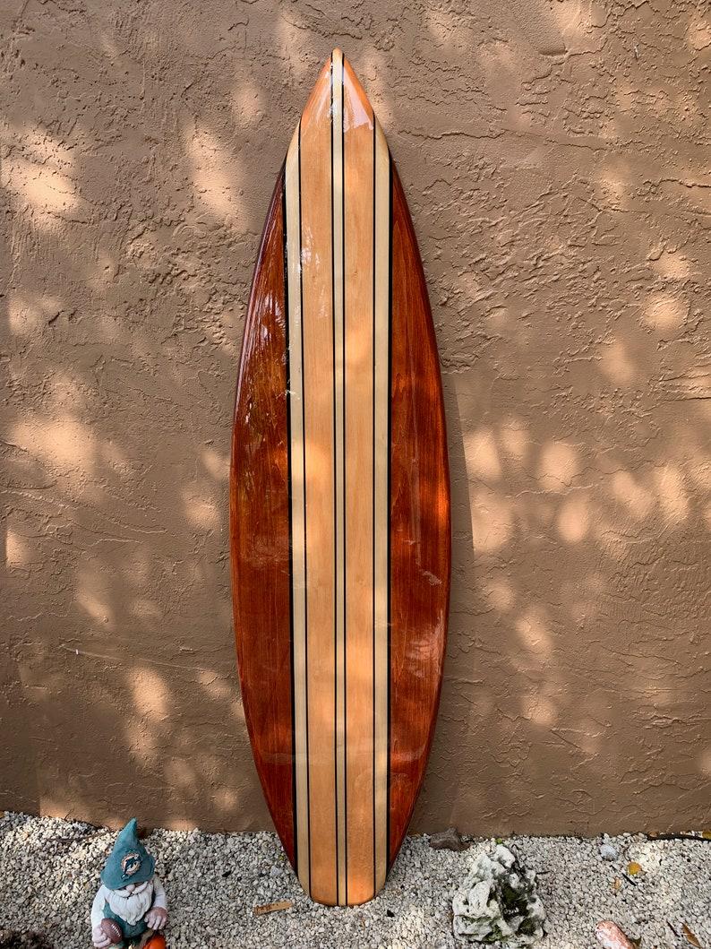 Decorative Wooden Surfboard Surfboard Wall Art Hawaiian Art Surf Art Surfer Decor Coastal Wall Decor Beach House Decor
