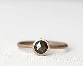 Custom 14k Gold Rose Cut Diamond Ring