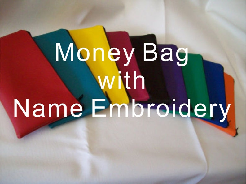 Embroidered Money bag NAME ONLY image 0