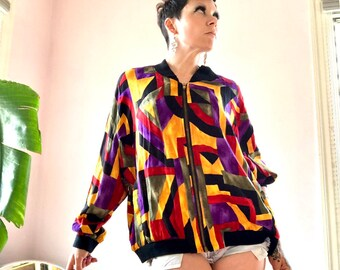 Ghetto Luxe Bomber Jacket Smooth Club Jacket Iconic 80s