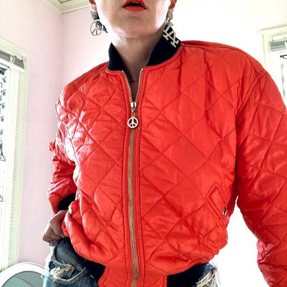 Fab Moschino Jeans saftey orange cropped nylon bo… - image 7