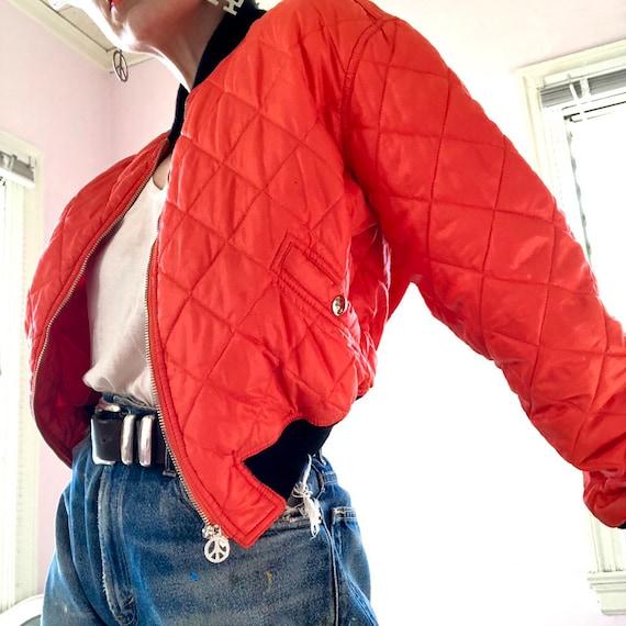 Fab Moschino Jeans saftey orange cropped nylon bo… - image 6