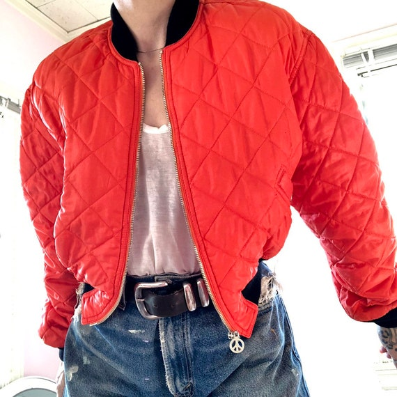 Fab Moschino Jeans saftey orange cropped nylon bo… - image 2