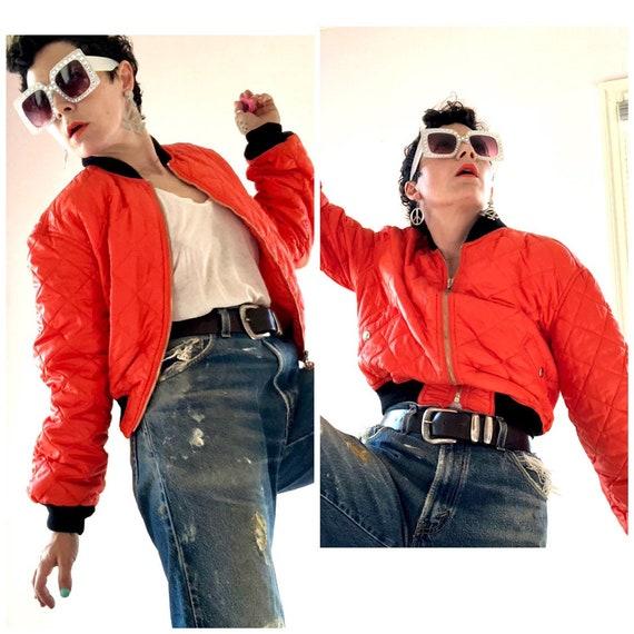Fab Moschino Jeans saftey orange cropped nylon bo… - image 5