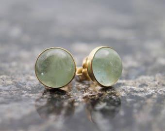 Aquamarine Gold Filled Stud Earrings - Gold Stud Earrings - Aquamarine Stud Earrings - Gemstone Earrings - Aquamarine Earring - Stud Earring