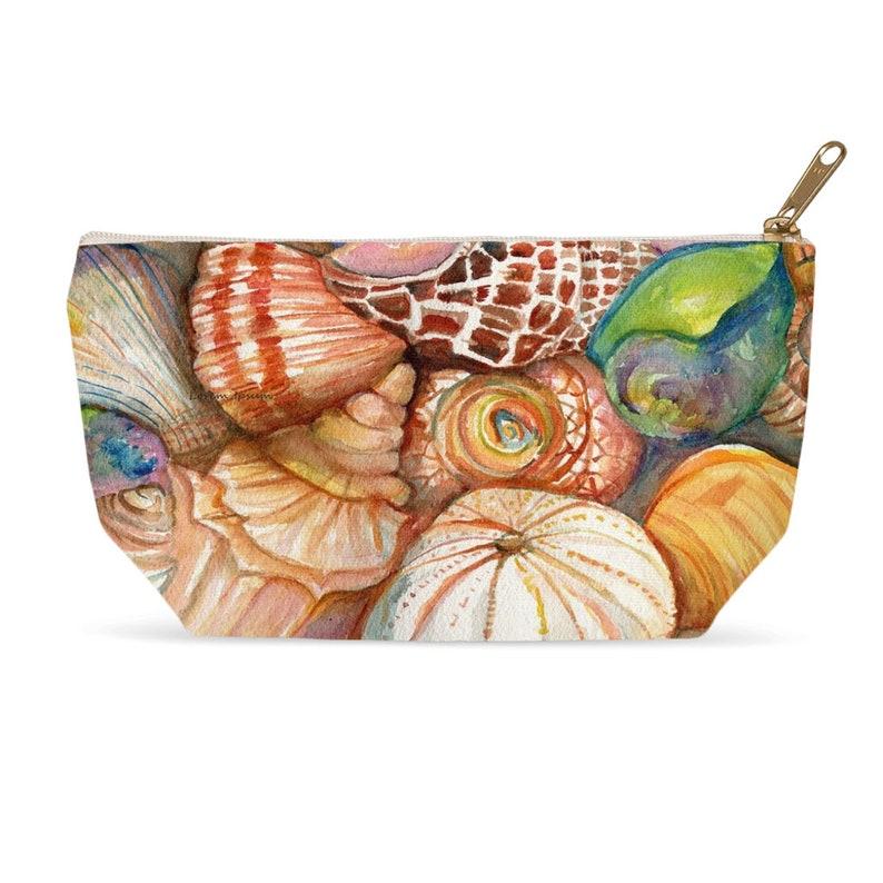 Seashells Makeup Pouches Shells Accessory Bag Cosmetics T image 0