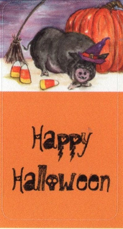 Halloween Witch Pig stickers Halloween decor art set of  18 image 0