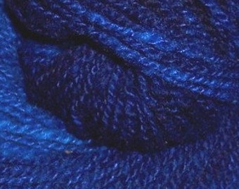 """CASHMERE & Wool blend sport weight yarn - """"Rory's Blues"""" - hand-dyed semi solid - 225 yds - 1.75 oz"""