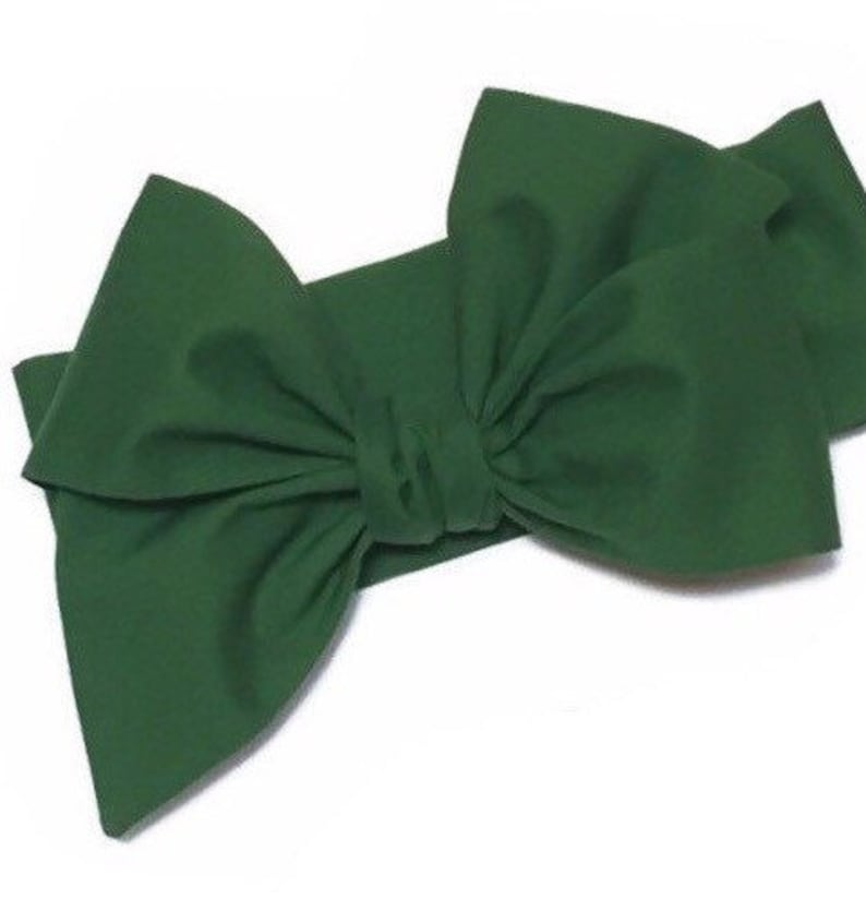 Dark Green Headwrap Girls Headwrap Baby Girl Headwrap Head image 0
