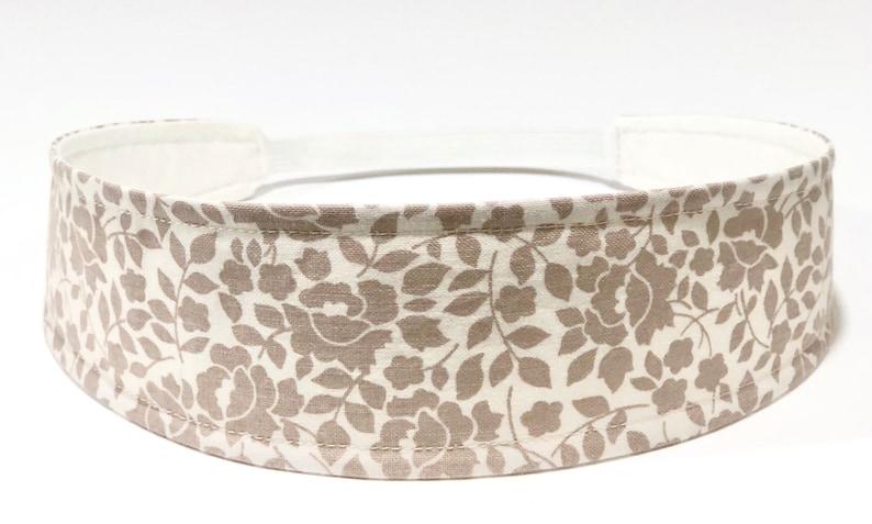 Beige Floral Headband for Women Womens Headband  Beige Tan image 0