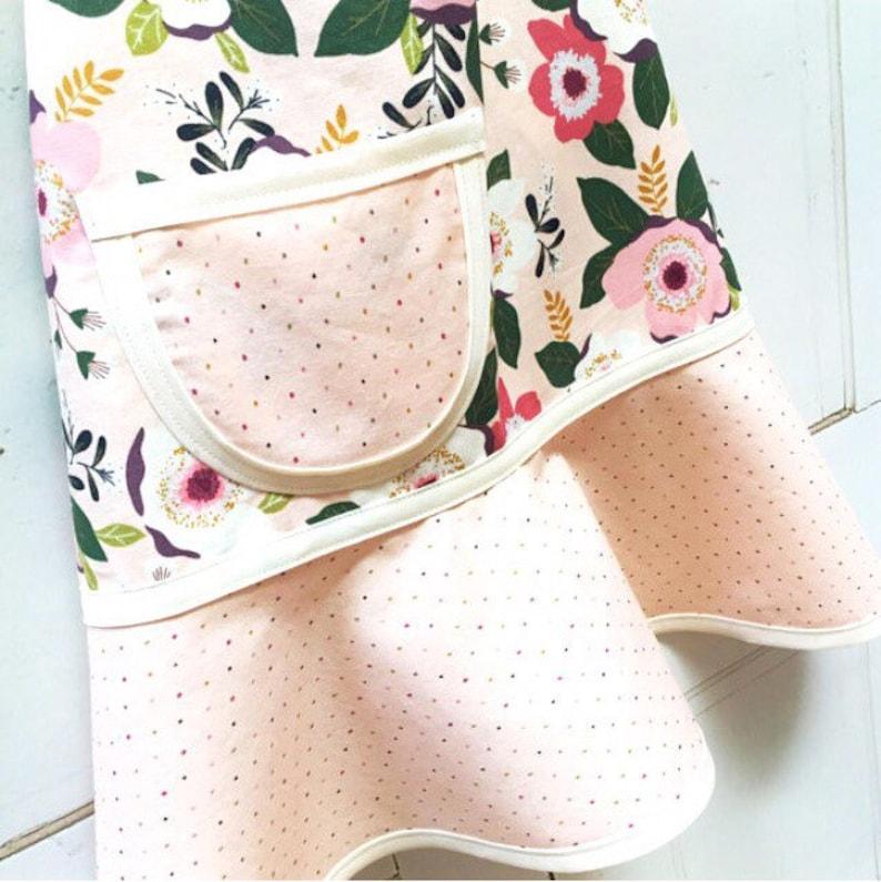Pink Blush Kids Apron Boho Pink Floral Child's Apron image 0