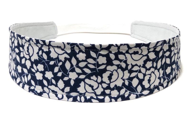 Blue Floral Headband for Women Womens Headband  Navy Blue & image 0