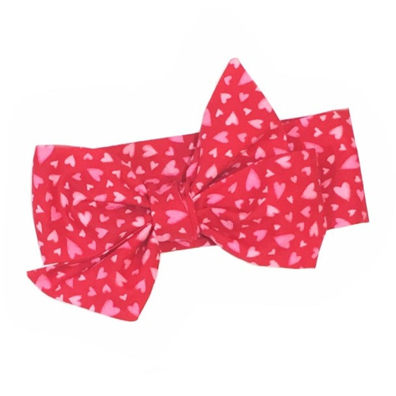 Valentine Hearts Girls Headwrap Baby Headwrap Girls image 0