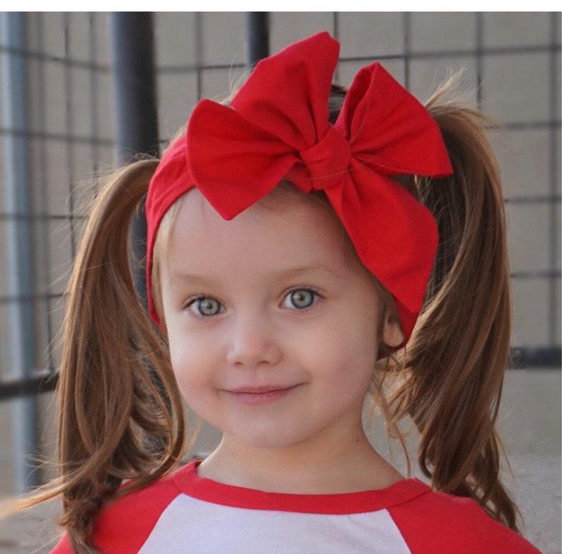 Red Headwrap Girls Headwrap Baby Girl Headwrap Head Wrap image 0