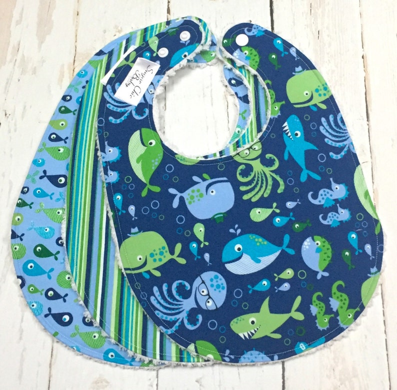 Baby Boy Chenille Bibs  Triple Layer Super Absorbent  Baby image 0